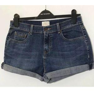Levi's 4 515 Dark Wash Shorts Cuffed High Waist